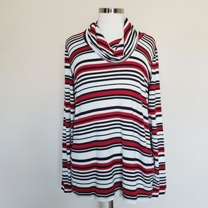 Zenergy Chicos Size 2 Red Black White Stripe Cowl
